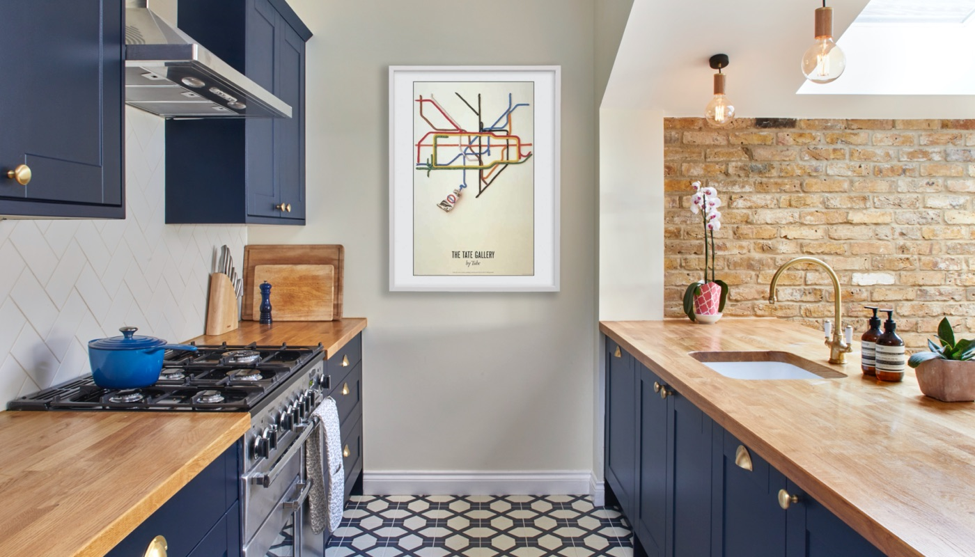Blue shaker kitchen in Wandsworth London by Holland Street Kitchens
