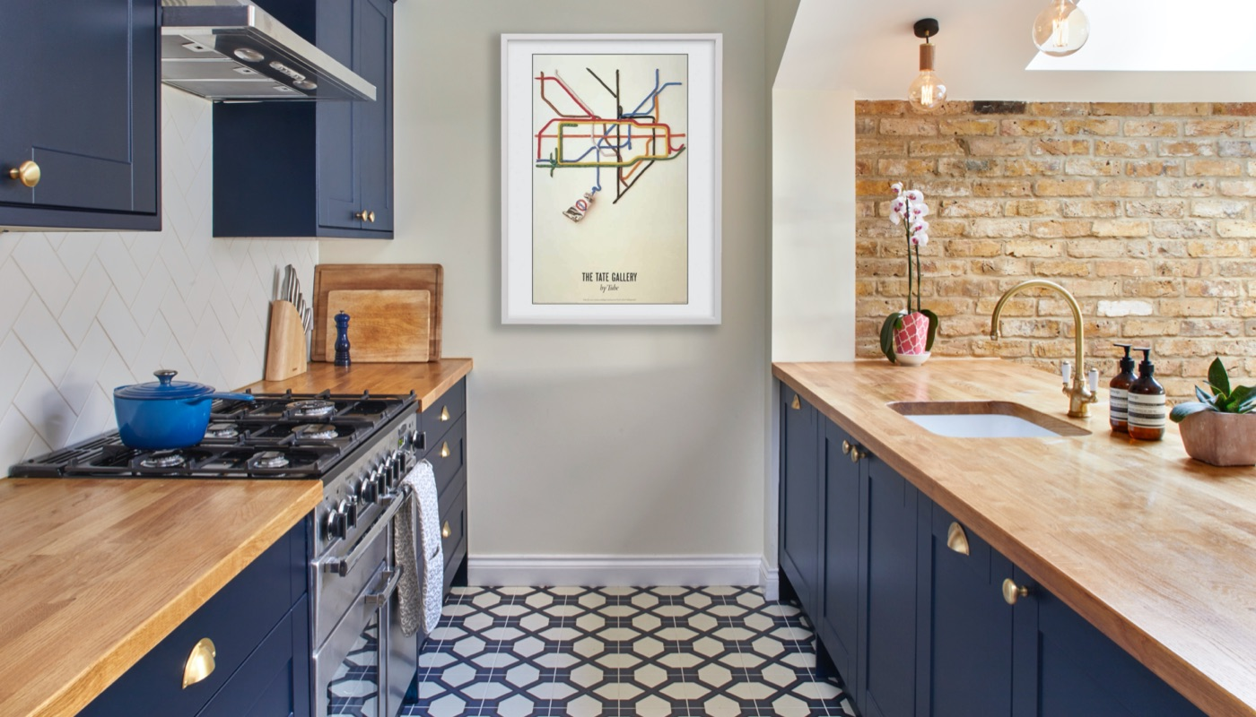 Blue shaker kitchen by Holland Street Kitchens